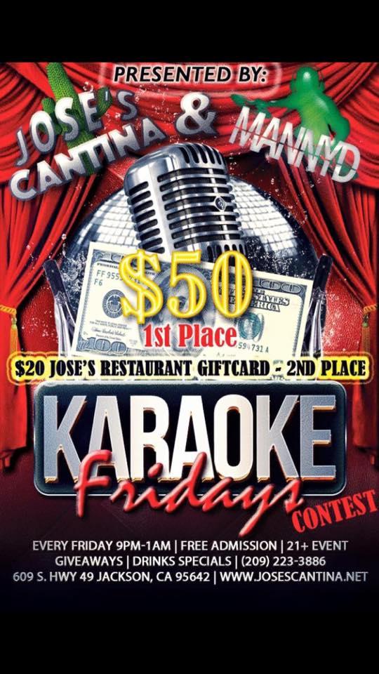 Karoke at Jose's Cantina - Fridays