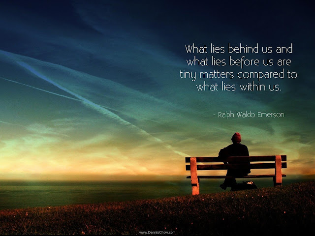 What lies within us Ralph Waldo Emerson quote
