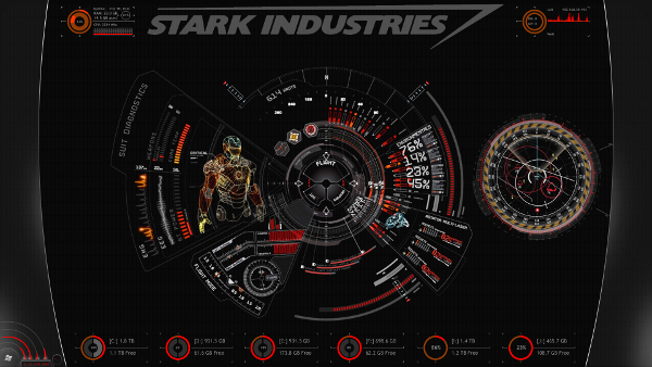iron man desktop themes