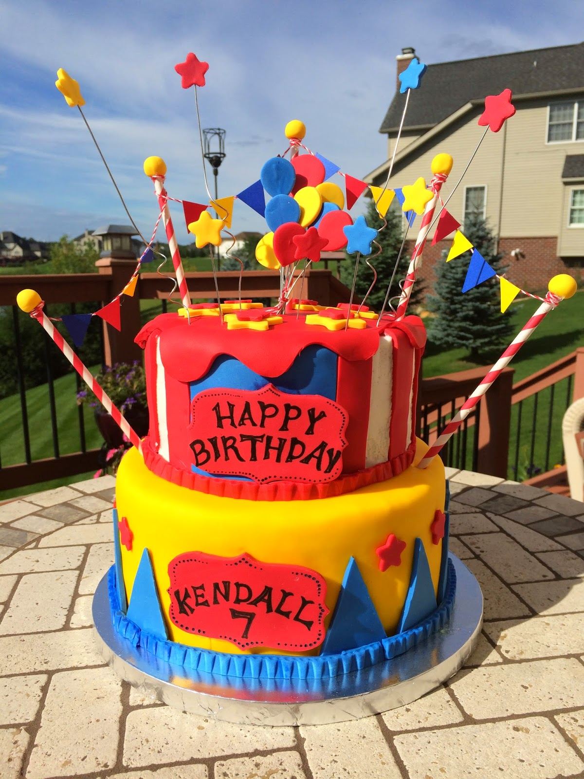 Christis Cakes Kendalls Carnival Birthday Cake