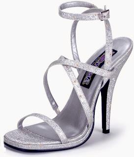 Silver Mini Glitter Heels Adult