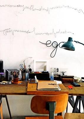 my scandinavian home: Vintage inspired workspaces
