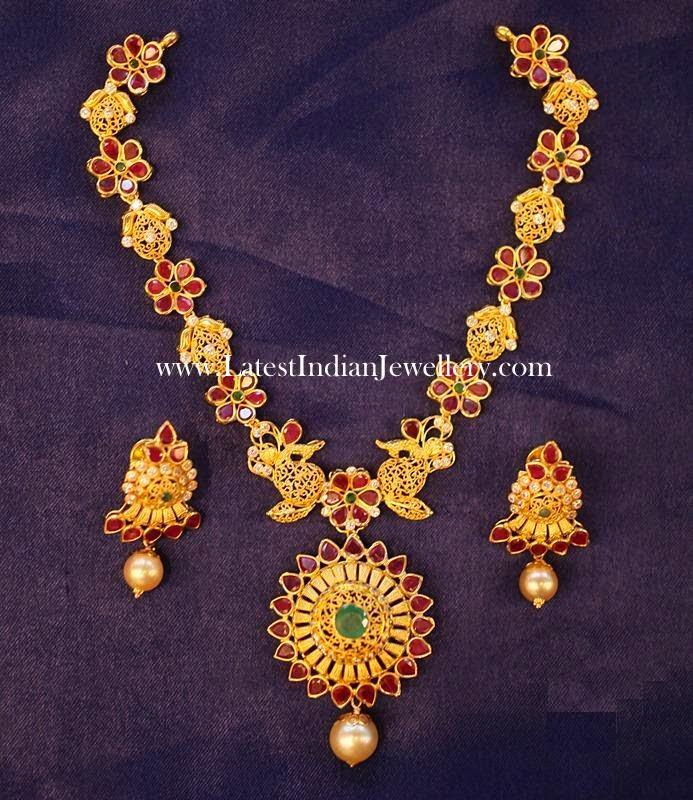 22 Karat Ruby Gold Necklace