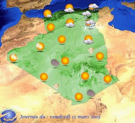 نشرية خاصة تحذر من سقوط أمطار غزيرة بـ9 ولايات