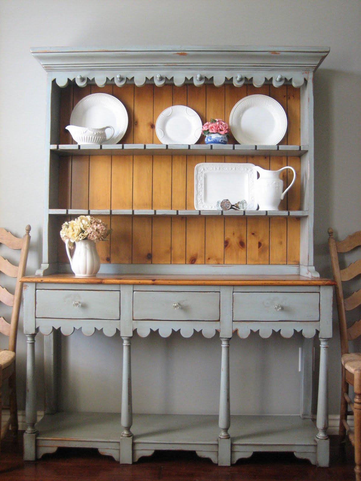 French Country China Hutch Cabinet