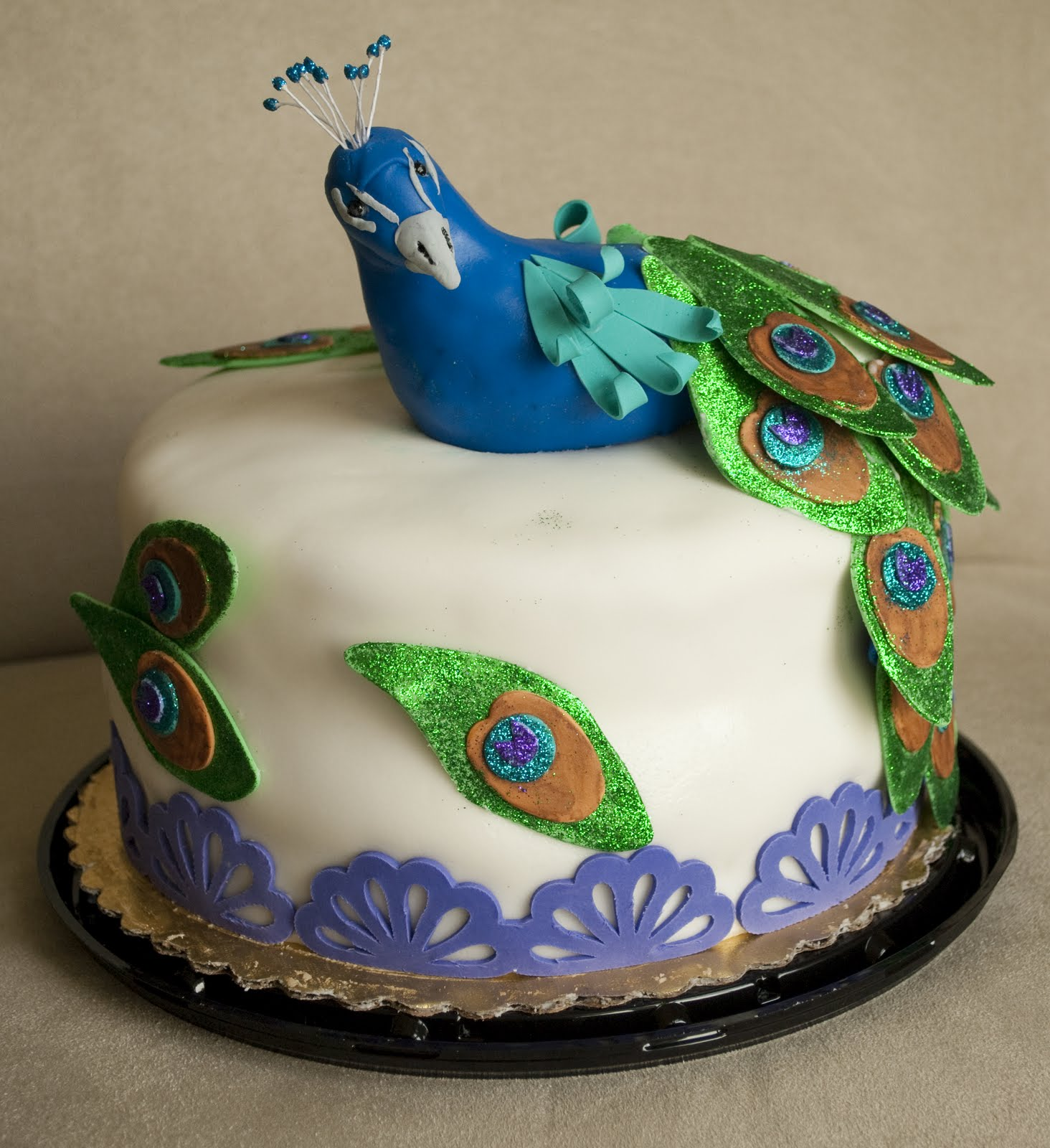 Pin Peacock Cake Wedding Blue Green Teal on Pinterest
