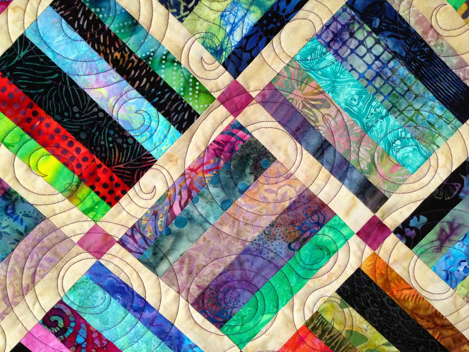 Peggy Krebs Batik Strips Quilt