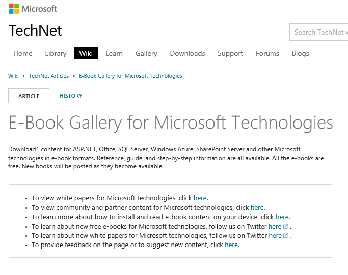 Kevin Greene IT Blog: E-Book Gallery for Microsoft ...