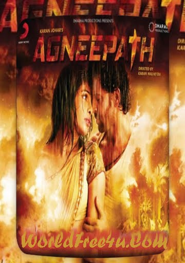Poster Of Bollywood Movie Agneepath (2012) 300MB Compressed Small Size Pc Movie Free Download worldfree4u.com
