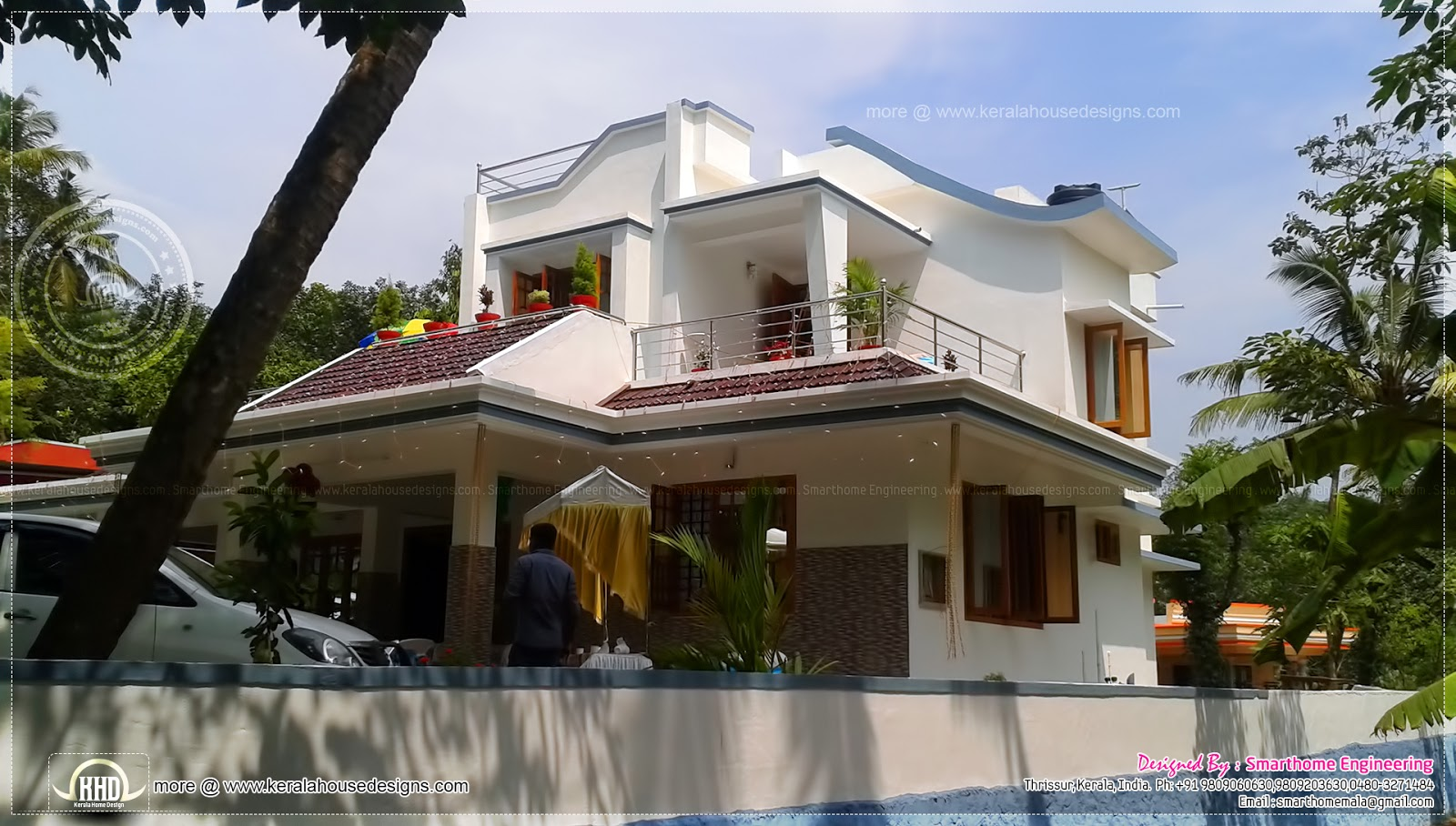Finished house in kerala in 2000 square feet home kerala for 2000 square feet house plans in kerala