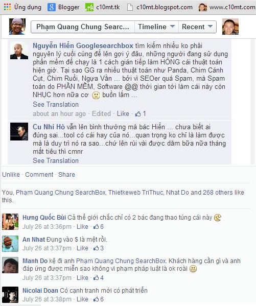 Comment từ phía Phạm Quang Chung SearchBox c10mt.com
