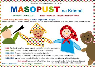 Masopust na Krásné 2012 - plakát