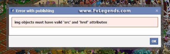 FarmVille Error Pop up While trying to share Unreleased Tree - FvLegends.Com