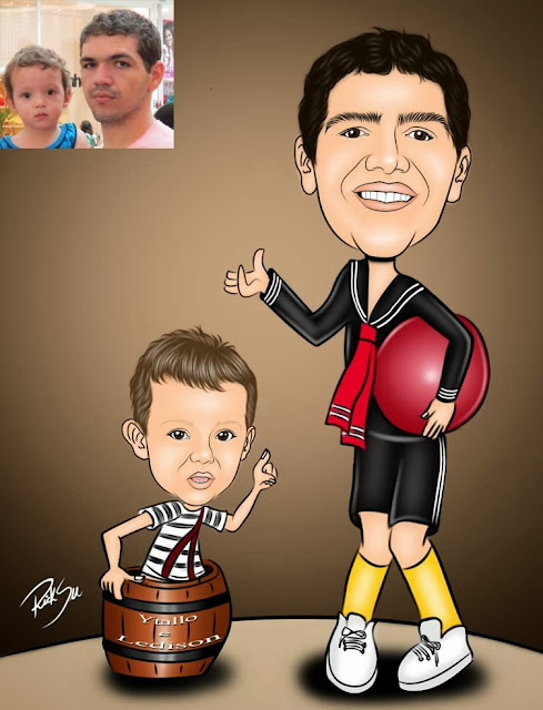 caricatura infantil