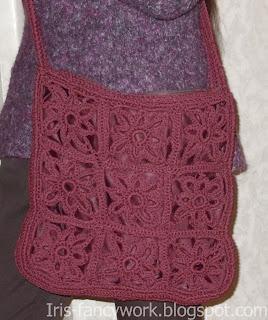 My Fancywork Blog Бордовая сумка связаная крючком из