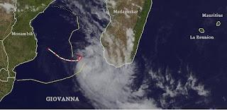 Zyklon GIOVANNA Madagaskar - und noch einmal La Reunion und Mauritius, Madagaskar, Mauritius, Giovanna, aktuell, Satellitenbild Satellitenbilder, Februar, 2012, Indischer Ozean Indik, Zyklonsaison Südwest-Indik, Vorhersage Forecast Prognose, Verlauf, Zugbahn,
