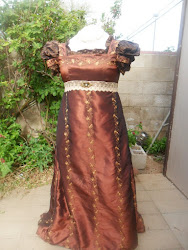 Brown Taffeta Regency Ball Gown