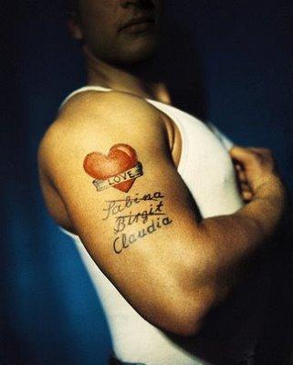 heart tattoos for men. Black Bedroom Furniture Sets. Home Design Ideas