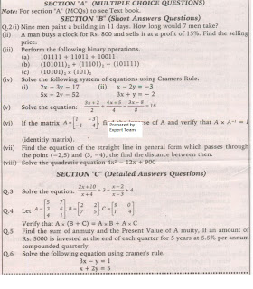 intermediate 2 maths papers