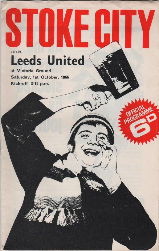 Football Programme for Stoke City v Leeds United, October1966