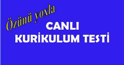 ONLİNE KURİKULUM TESTİ