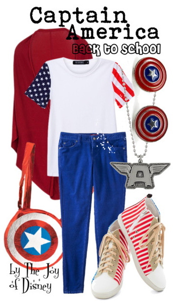 marvel, captain america, back to school outfits, back to school fashion