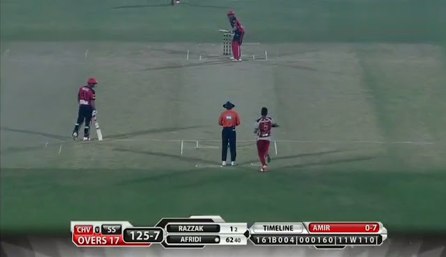 mohammad amir, shahid khan afridi, shahid afridi, afridi, lala, clean bowled, bpl, bowled, sylhet super stars, chittagong vikings, bangladesh, bangladesh premier league, 142kmh,