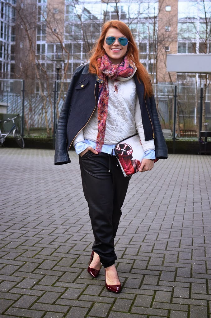 fashion-bridge, fashion-bridge blog, fashion-bridge.blogspot.com, maje, maje jackets, street style, street fashion, street fashion Netherlands, ray ban sunglasses, mario testino for mate