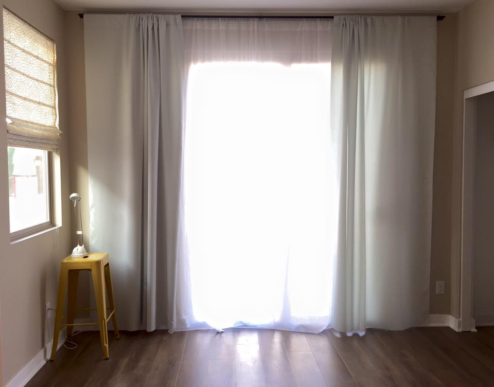 10 Ft Double Rod Curtain Hardware For Less Than 15
