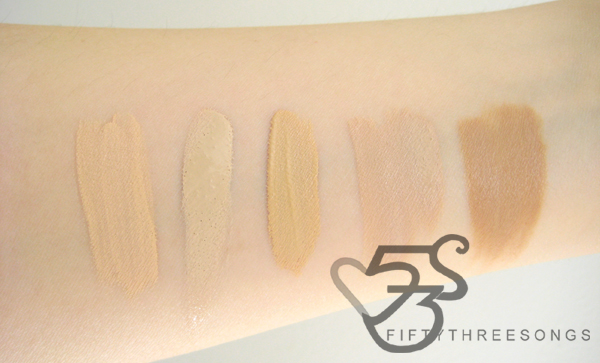 concealer swatches - mac, hard candy, maybelline, physicians formula