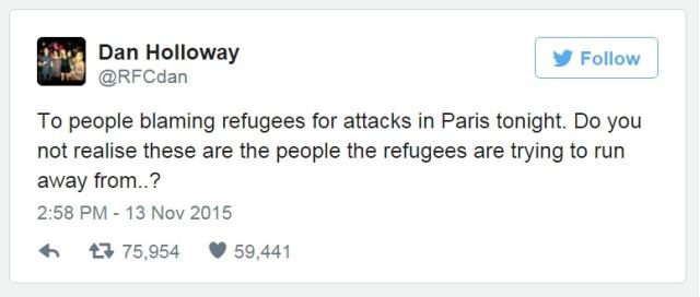 tweets about paris attacks