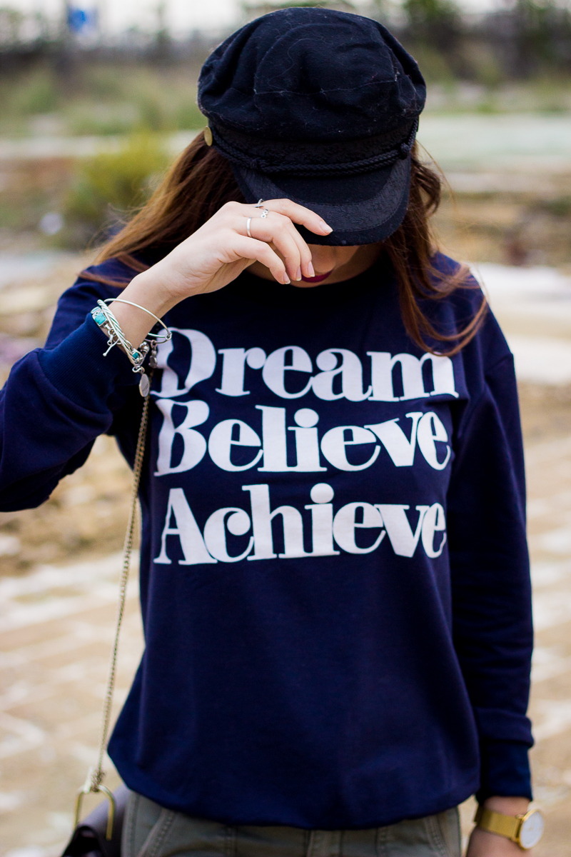 dream, believe, achieve sudadera