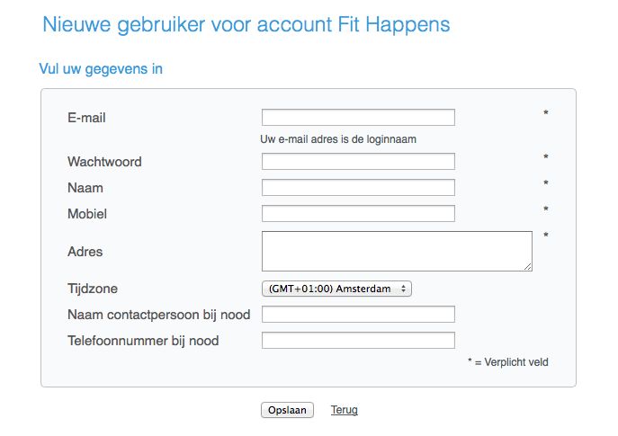 Nog geen account bij Fit Happens?