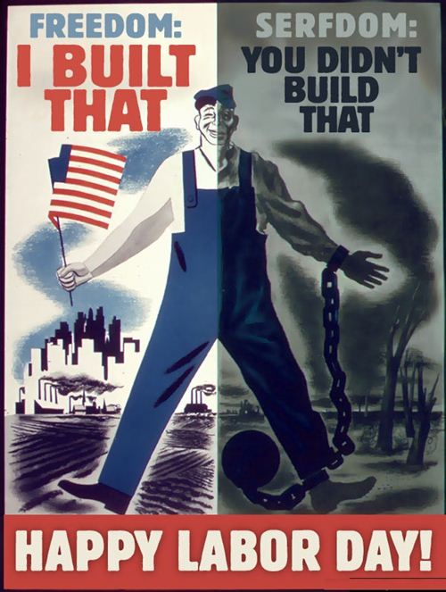 Happy Labor Day Poster About The Difference Of Freedom Workers Get