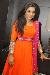 Alisha Baig in Sinduri Orange Salvar Suit at Basanti Audio Launch