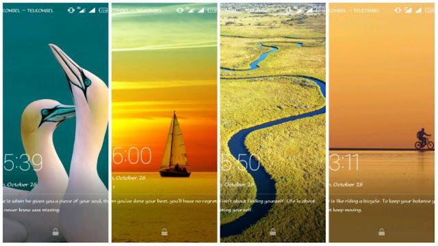 Magazine lock Screen di Infinix Hot Note