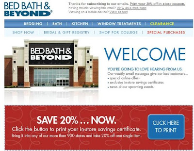 Bed Bath and Beyond 20% coupon 2013