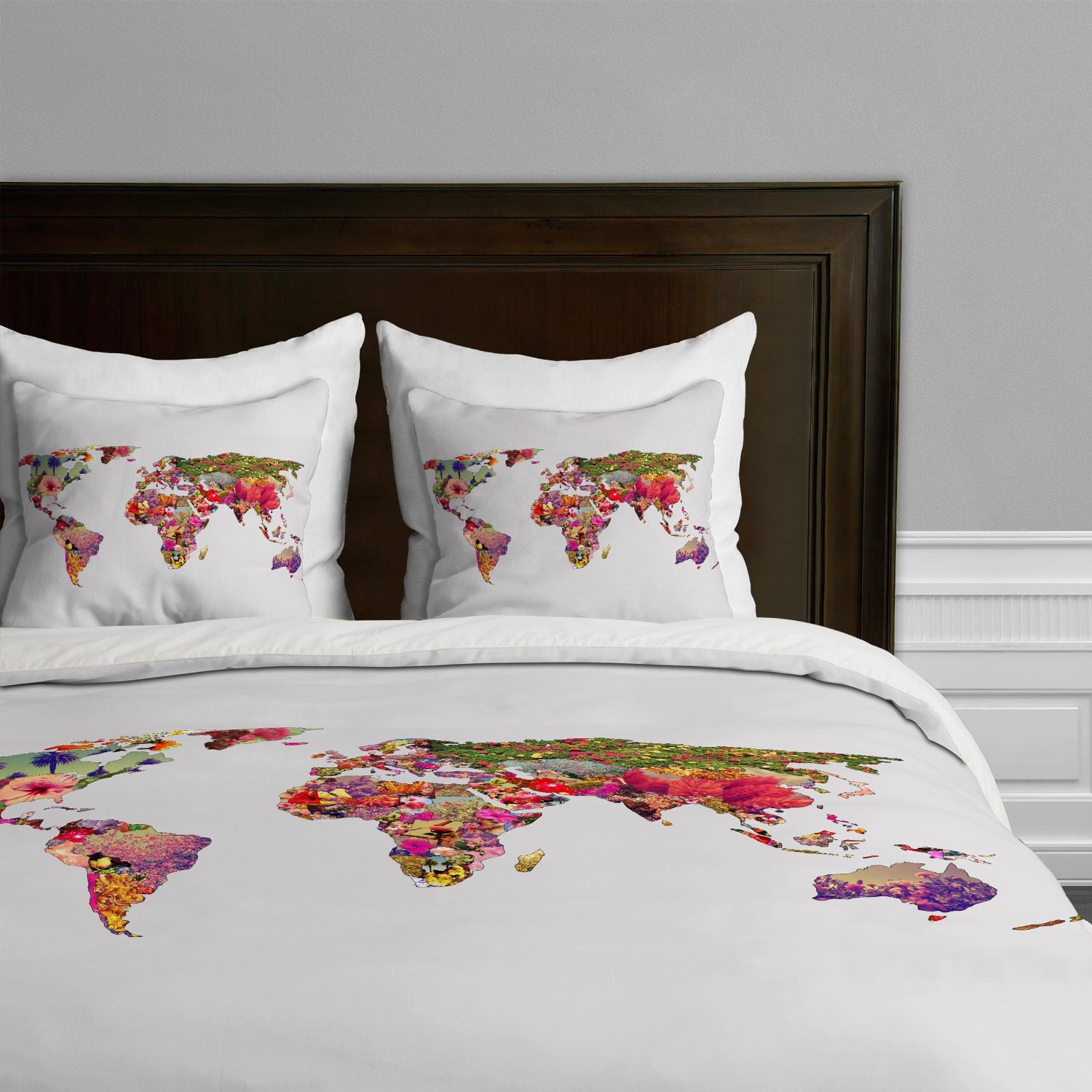 World map themed comforter and bedding sets world map themed duvet by deny in twin queen king size gumiabroncs Gallery