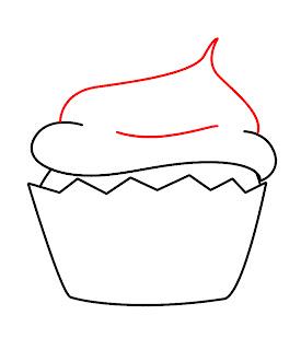 How To Draw A Kawaii Cupcake Step 5