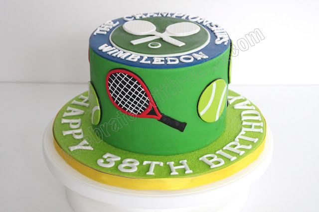 Celebrate with cake tennis themed cake for Anpanman cake decoration