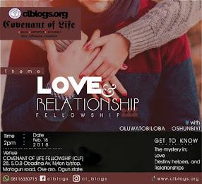 February's Love & Relationship  Fellowship
