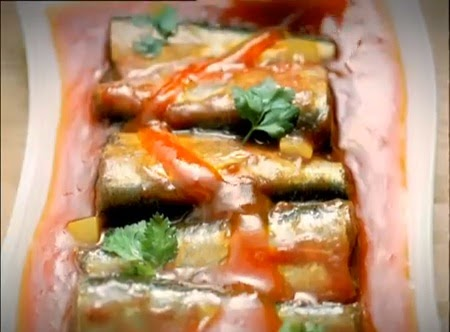 ikan sardines siap disantap