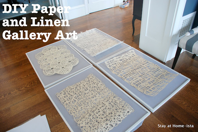 DIY Paper and Linen Gallery Art