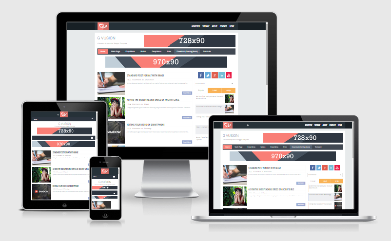 G Fusion 2 Responsive Blogger Template Arlina Design