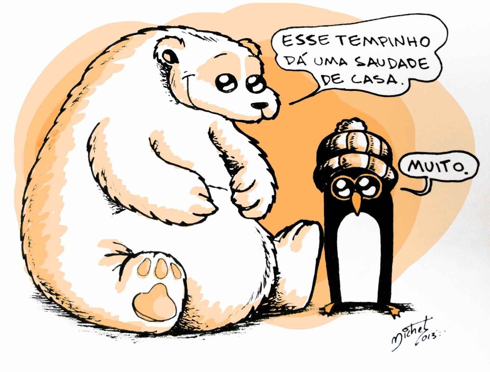 Ilustração/Charge de inverno feita para o Jornal Notícias de Lençóis. - Michel Ramalho