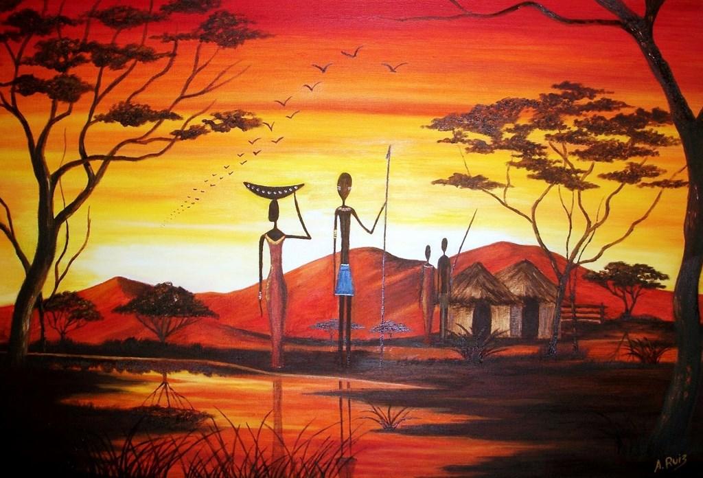 Cuadros De Africanas Para Pintar With Cuadros Modernos Faciles De Pintar.
