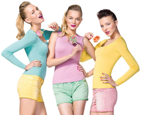Benetton primavera verano 2012 pin up