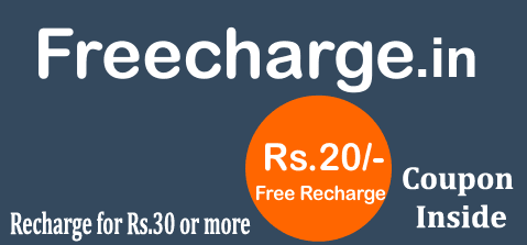Freecharge coupons for mobile recharge january 2018