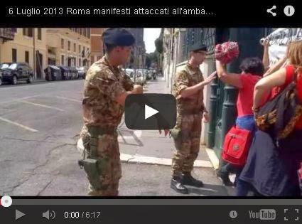 6 luglio a Roma: striscione attaccato all'ambasciata turca