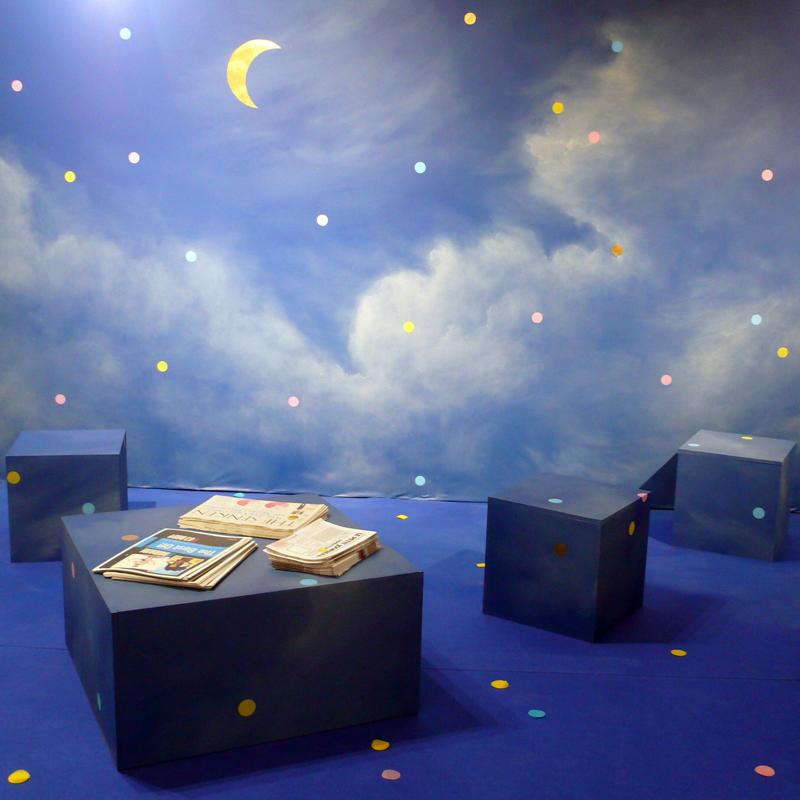 Le papier peint phosphorescent DECO  - Papier Peint Phosphorescent Nuit Etoilee